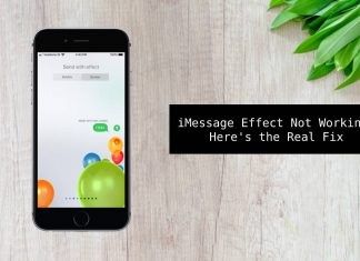 imessage effects not working