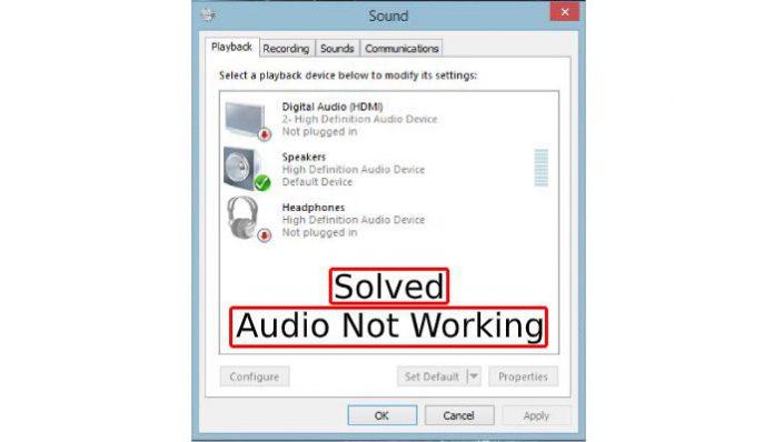 fix audio not working