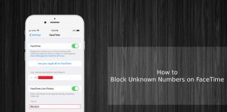 block unknown numbers on facetime
