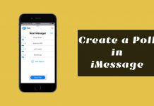 create poll in iMessage