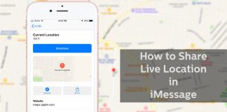 share location on iMessage