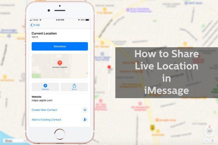 share location on iMessage
