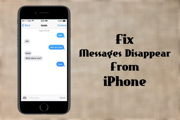 Fix Messages Disappear from iPhone