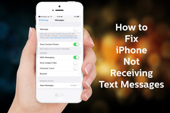 Phone Not Receiving Text Messages