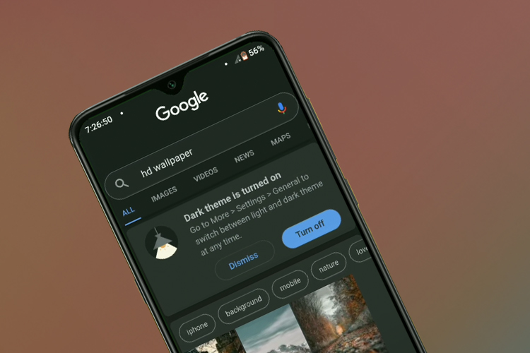Dark Mode for Search App