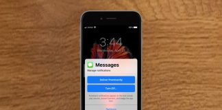 iMessage notifications