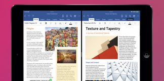 iPad MS Office multi-window feature