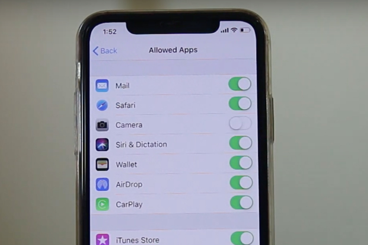 Remove Camera from Lock Screen