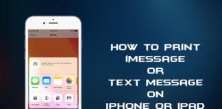 print iMessage