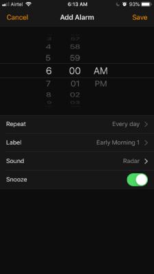 Add Alarm on iPhone