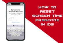 reset Screen Time Passcode