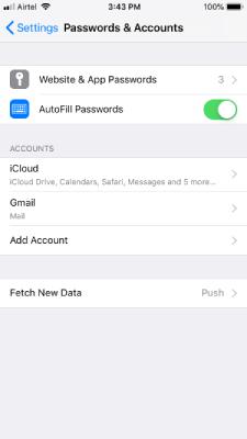 Websites and App Passwords