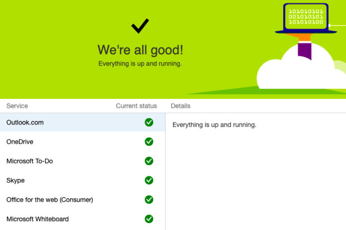 is hotmail or outlook down or not