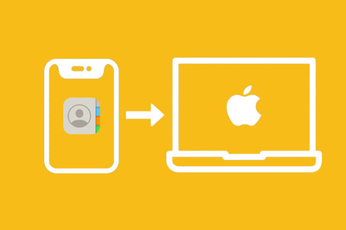 sync contacts from iPhone to Mac