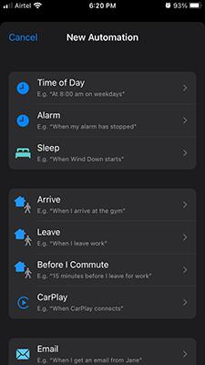 Choose NFC in iOS 15