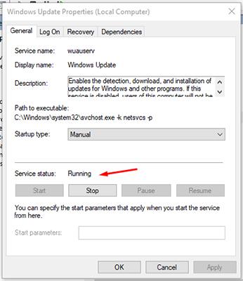 Windows Update Service Status