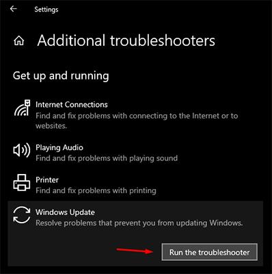 Run the troubleshooter on Windows