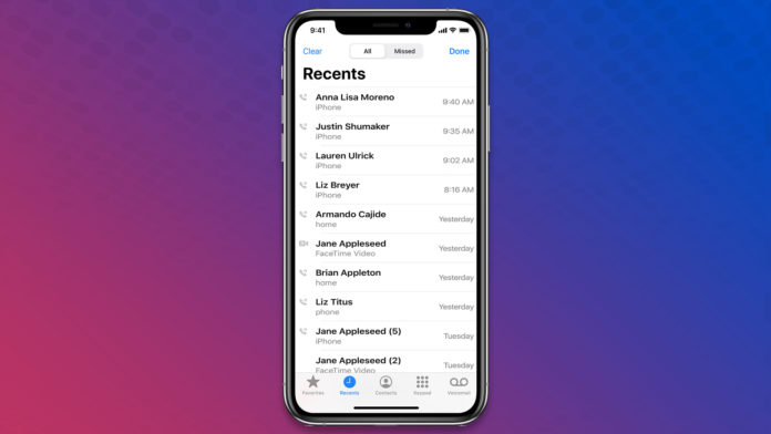 Recover Call History on iPhone