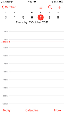 Calendar App in iOS 15